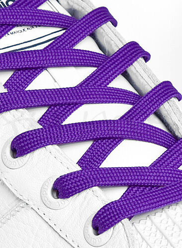 FLAT PURPLE SHOE LACES SHOELACES 11 LENGTHS 8mm wide VERY HIGH QUALITY