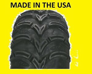 TWO-2-25X10-12-AMERICAN-MADE-ITP-MUD-LITE-ATV-TIRES-NEW-MADE-IN-USA