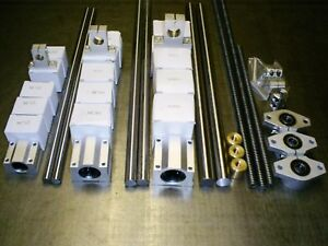 x1-CNC-Linear-Kit-Rails-Bearings-Spindle-nuts-supports-SET2-XYZ-Axis