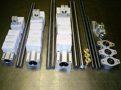 Custom 2 Axis CNC Linear Kit-Rails Bearings Spindle nuts supports XY 3d Printer