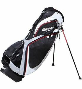 NEW-CLEVELAND-PREMIUM-STAND-GOLF-CARRY-BAG-BLACK-RED-FULL-LENGTH-DIVIDERS