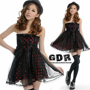 LOLITA-PUNK-GOTHIC-sweet-TUBE-DOLLY-CHECK-SLEEVES-010328-DRESS