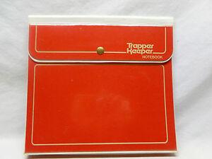Vtg-Retro-80-039-s-Original-Red-Snap-Button-Trapper-Keeper-School-Folder-Binder