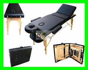 3-SECTION-BLACK-PORTABLE-MASSAGE-TABLE-BED-SPA-TATTOO-COUCH-BEAUTY-THERAPY-SALON