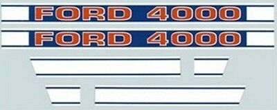 Ford 4000 Tractor Hood Decal Kit 1968 & Up Brand New F503HB