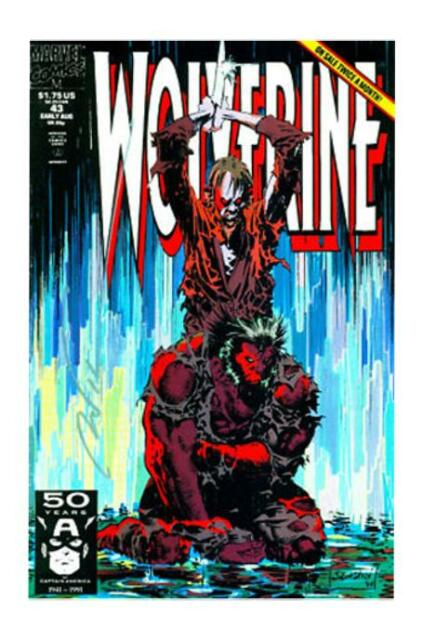 Wolverine #43 (1991, Marvel, Sabretooth cameo) in NM condition