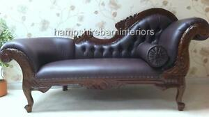 RIGHT-BROWN-FAUX-LEATHER-CHAISE-LONGUE-LOUNGE-SOFA