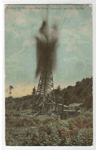 Oil-Well-Shooter-Oil-City-Pennsylvania-1911-postcard