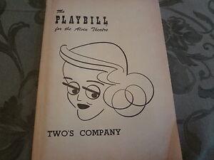 1953-Twos-Company-Bette-Davis-Broadway-Theater-Playbill-Program-Obituary