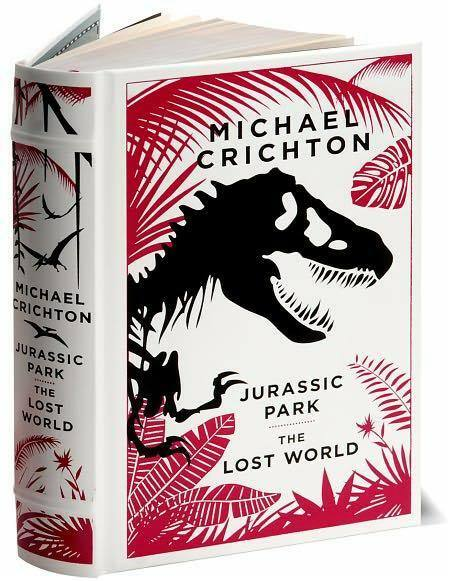 JURASSIC PARK & LOST WORLD ~ Michael Crichton ~ LEATHER GIFT EDITION ~ NEW
