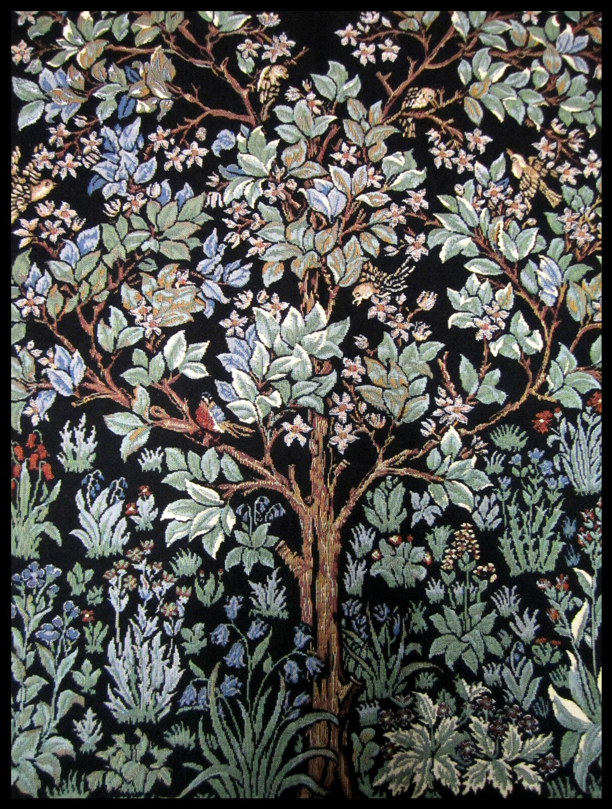 wandteppich aus italy gobelin william morris lebensbaum tree of life 70x90 cm ebay. Black Bedroom Furniture Sets. Home Design Ideas
