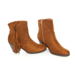 Edgy-Trendy-Suede-Fringe-Stacked-Heel-Ankle-Boots-Booties-Hazel