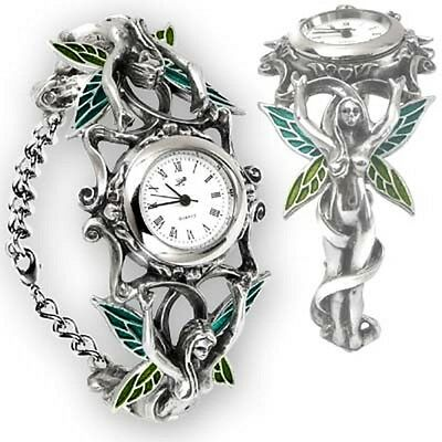 English Pewter Gothic Fairies Artemisia Bracelet Watch Alchemy of England