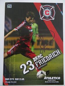 Handsignierte-AK-Autogrammkarte-ARNE-FRIEDRICH-Chicago-Fire-MLS-2012-2013-RAR
