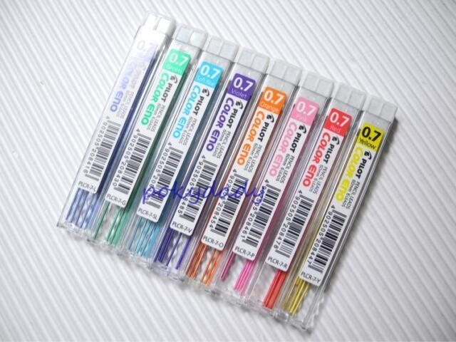 Free Shipping 8 colour Pilot 0.7mm colour eno pencil lead set(Japan)