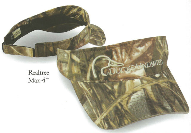 VISOR Ducks Unlimited Realtree Max 4 Camo Camouflage Duck Hunting Hat