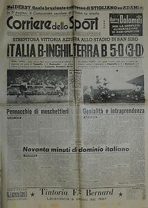 Corriere-dello-Sport-N-112-del-12-MAG-1950-ITALIA-B-INGHILTERRA-B-5-0-S-SIRO