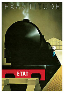 Exactitude-Poster-French-Art-Deco-Travel-Poster-Train