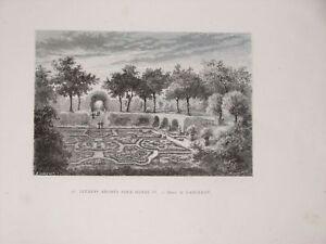 Jardins BrodÉs Sous Henri Iv Estampe Dieudonné Lancelot 1875