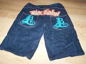 Size-14-Waist-29-Blac-Label-Denim-Shorts-Dark-Wash-EUC