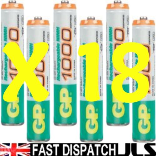 18 AAA GP Rechargeable 950 mAh NI-MH Batteries phone