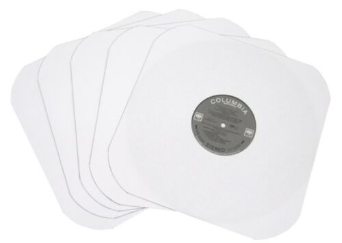 "(25) 12IW  12"" White Heavyweight Paper Record INNER SLEEVES Rounded Corners LP"