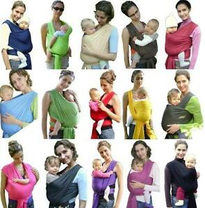 Tragetuch-Babytrage-Babytragetuch-Baby-Bauchtrage-inkl-Bindeanleitung