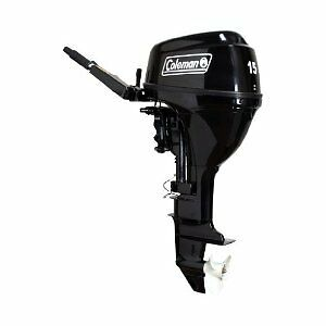 Coleman-15-HP-Outboard-Motor-Gas-Engine-OHV-Twist-Grip-Throttle-Boat-Water-Craft