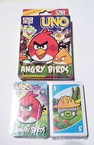 UNO-Playing-Cards-Game-ANGRY-BIRDS-Brick-Wall-Sealed-NEW