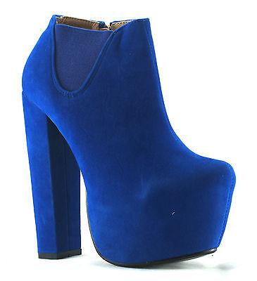 WOMENS LADIES CHELSEA BOOTS HIGH BLOCK HEEL BOOTIES PLATFORM SHOES BOOTS UK 3-8