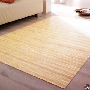 bambusteppich massive fb pure 17mm stege teppich aus bambus ma ca 140x200 ebay. Black Bedroom Furniture Sets. Home Design Ideas