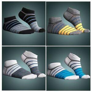 Men-039-s-Mens-Fashion-Low-Cut-Ankle-Cotton-Sport-socks-Stripe-Colorful-White-Black