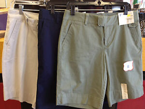 NWT-DOCKERS-WOMEAN-CAPRI-STRETCH-TWILL-BERMUDA-Diff-Sizes-amp-Colors