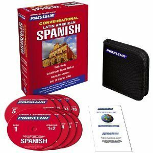New-8-CD-Pimsleur-Learn-to-Speak-Spanish-Latin-Language-16-lesson