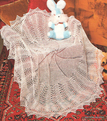 """Circle of Love"" Baby Christening Shawl Knitting Pattern"