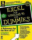 Excel for Windows 95 For Dummies by Greg Harvey (Paperback, 1995)