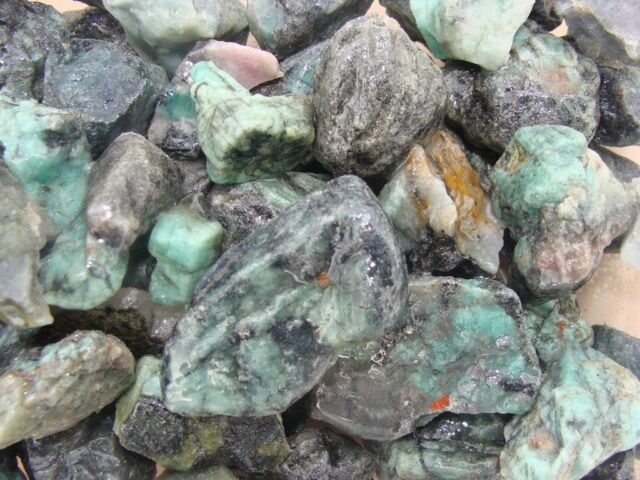 Emeralds -  Gemstone Rough Rock -  Columbian Emeralds - Full 1/2 LB