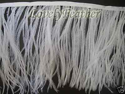 Ostrich feather fringe of white color 5 yards trim