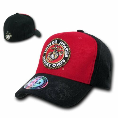 United States Marine Corps USMC US Marines Flex Baseball Cap Caps Hat Hats S/M