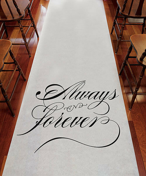 Wedding Ceremony / Church / Outdoor Decoration ALWAYS & FOREVER Aisle Runner