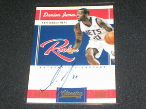 DAMION-JAMES-NETS-2011-PANINI-CERTIFIED-AUTOGRAPHED-SIGNED-ROOKIE-CARD-223-699