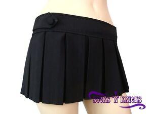 Sexy-Black-Plaid-Short-Micro-Mini-Skirt
