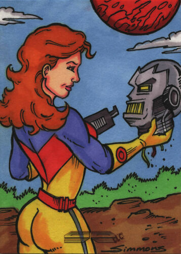 5finity Galaxgals Eradication Scott Simmons Sketch Card Ver. 4
