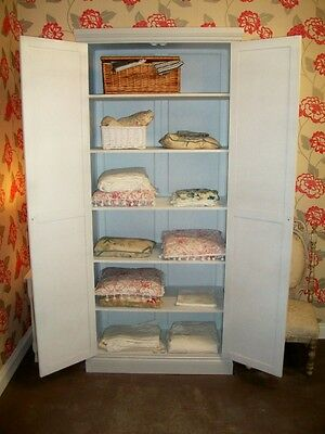 BRITISH MADE PAINTED LINEN PRESS / CUPBOARD SHABBY CHIC DELIVERY