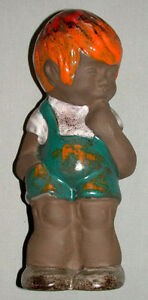 1930-039-s-German-Pottery-9-Inch-Figure-Of-A-Boy
