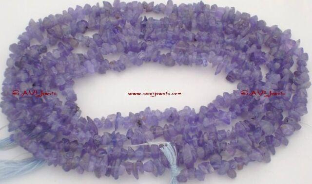 "PREMIUM 3-5mm TANZANITE Chips Loose Uncut Gemstone Beads 34"" Strand"