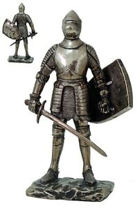 Medieval-Knight-of-Valor-Long-Swordsman-and-Shield-Statue-7-Tall-Figurine