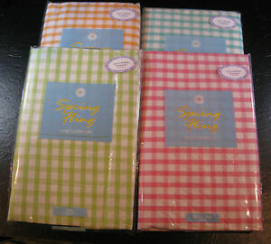 Flannel Backed Vinyl Quot Spring Fling Quot Check Tablecloths