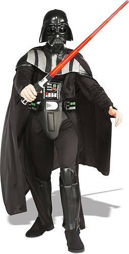 DARTH VADER Adult Deluxe Mens Star Wars Costume COMPLETE Suit Light Saber Rubies