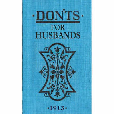 Don'ts for Husbands, Blanche Ebbutt, New condition, Book